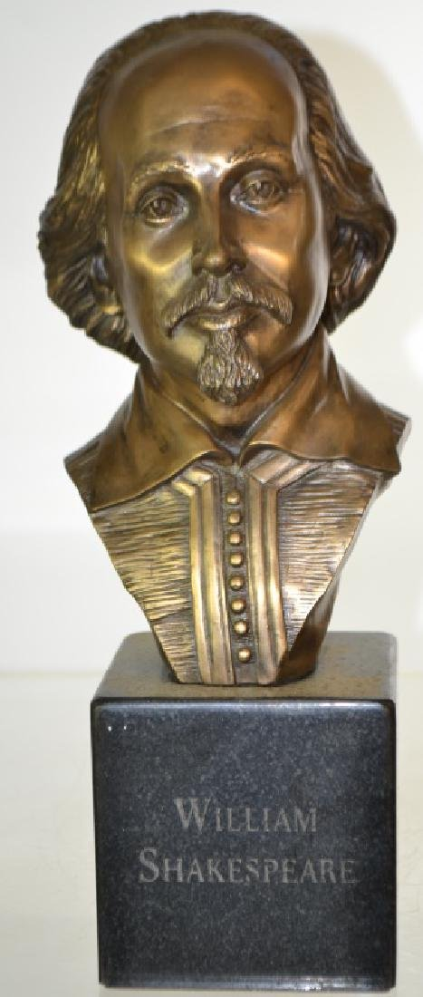 Bronze Chris Pardell Bust of Shakespeare