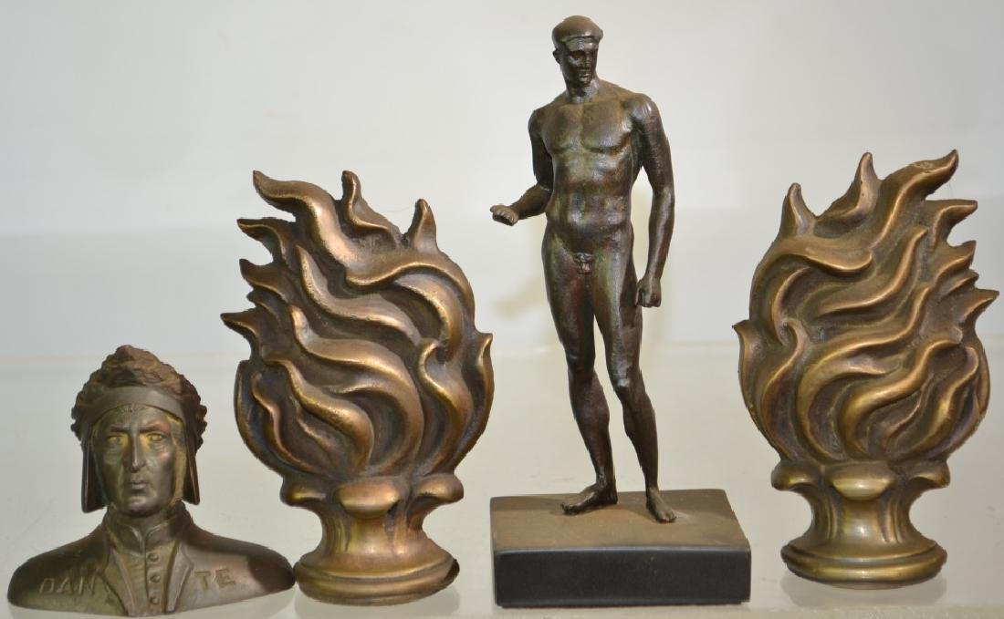 Small Bronze Bust of Dante and More