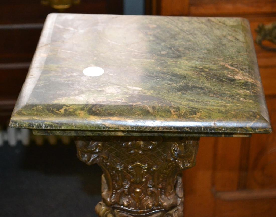 Victorian Brass and Green Marble Pedestal - 2