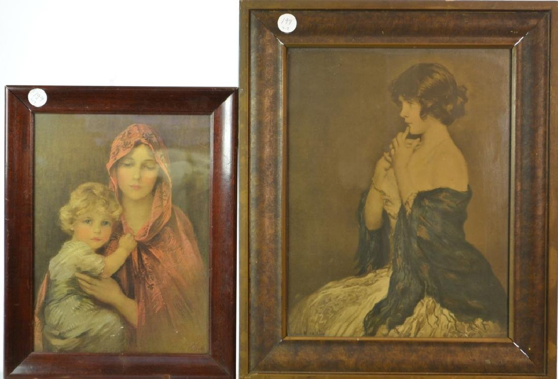 Two Prints of Young Women