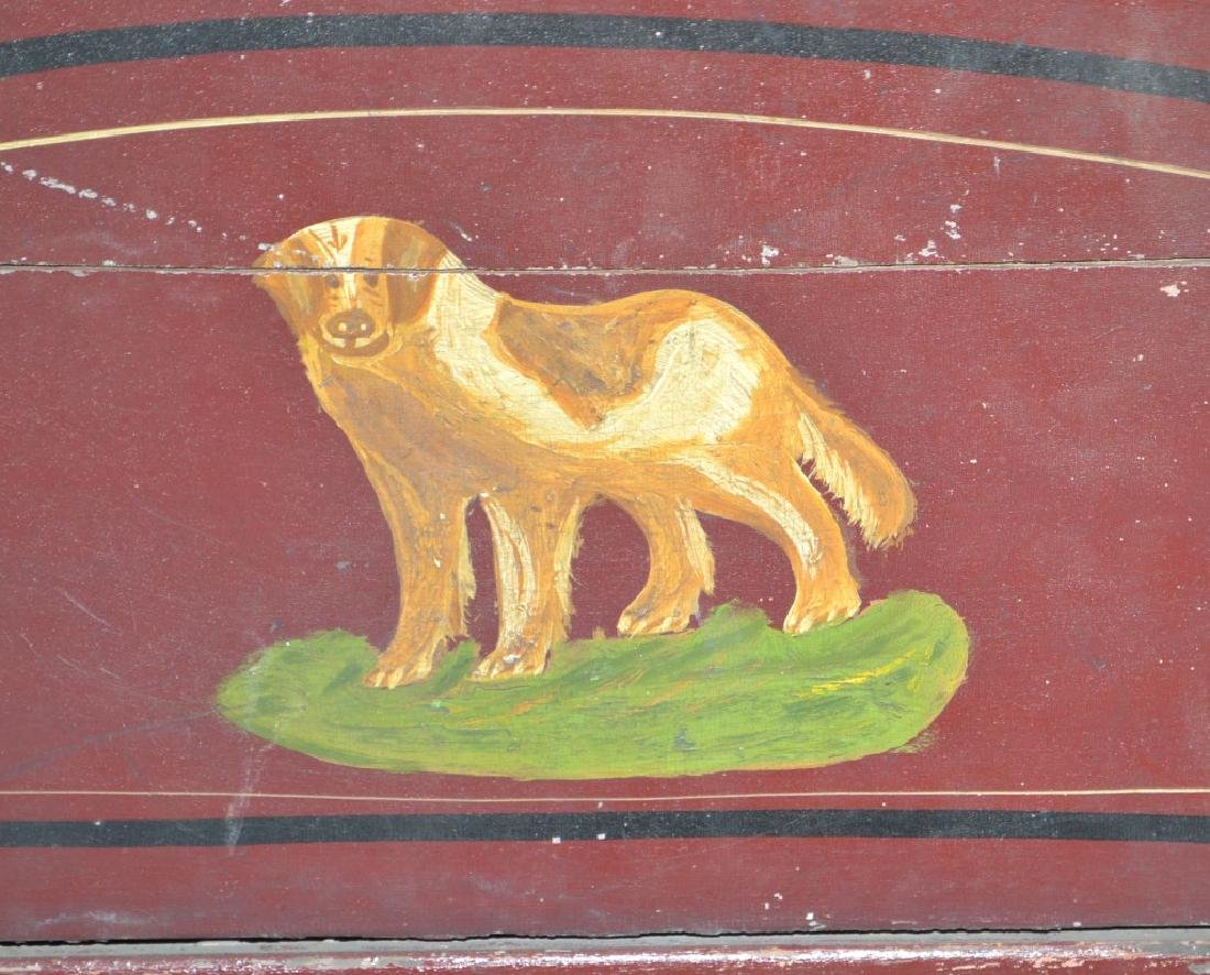 Outstanding Decorated 19th Century Child's Sleigh - 3