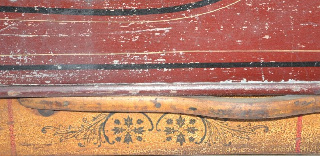 Outstanding Decorated 19th Century Child's Sleigh - 4