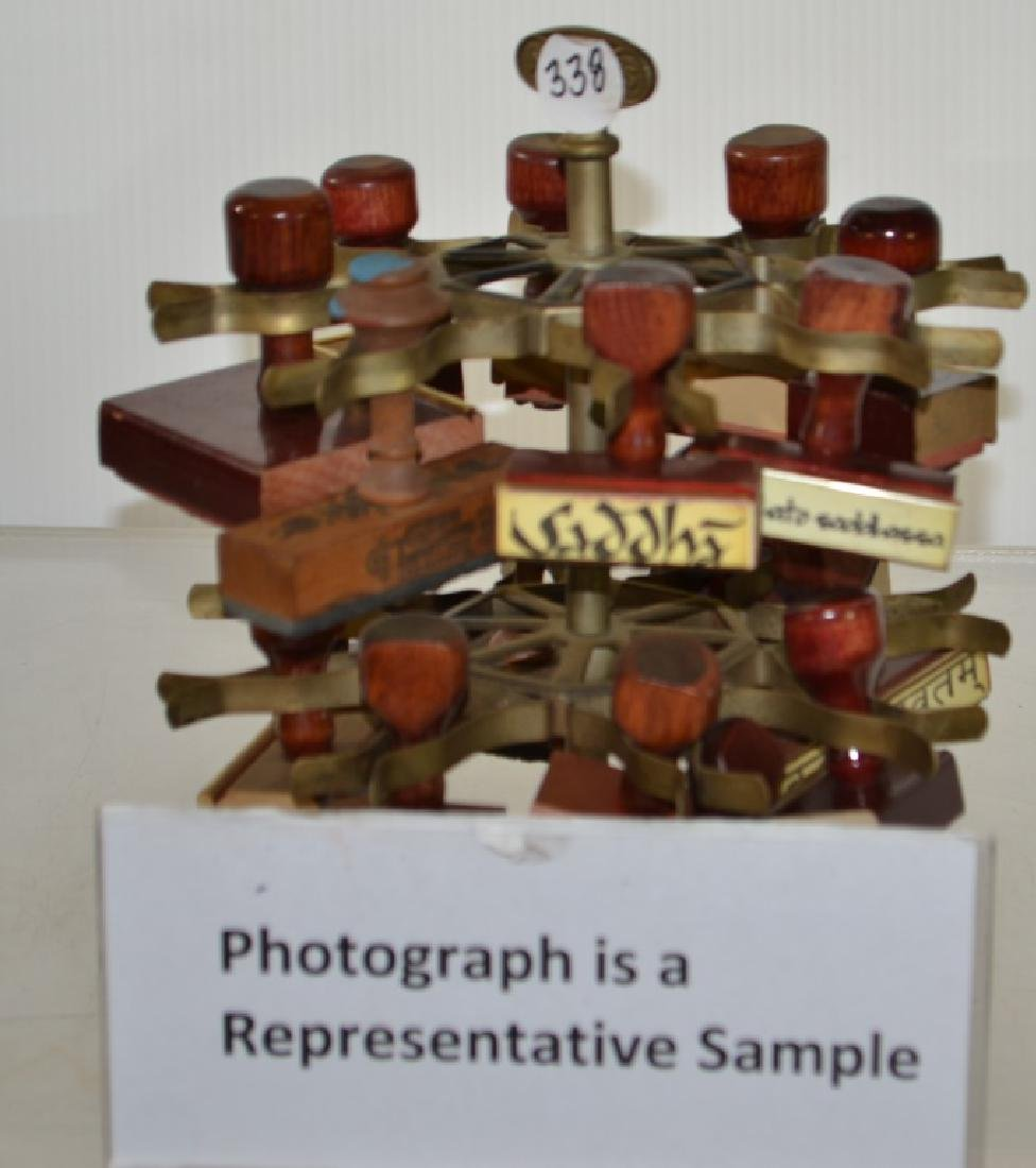 Rubber Stamps and Holder