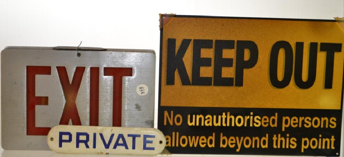 Industrial Sign Grouping