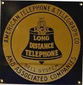 Porcelain Bell Telephone Sign