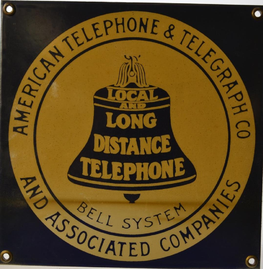Porcelain Bell Telephone Sign