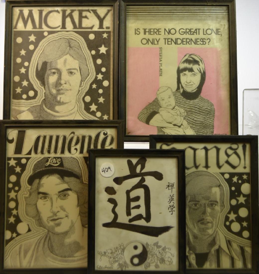 Five Pen and Ink Drawings by Joel Michael