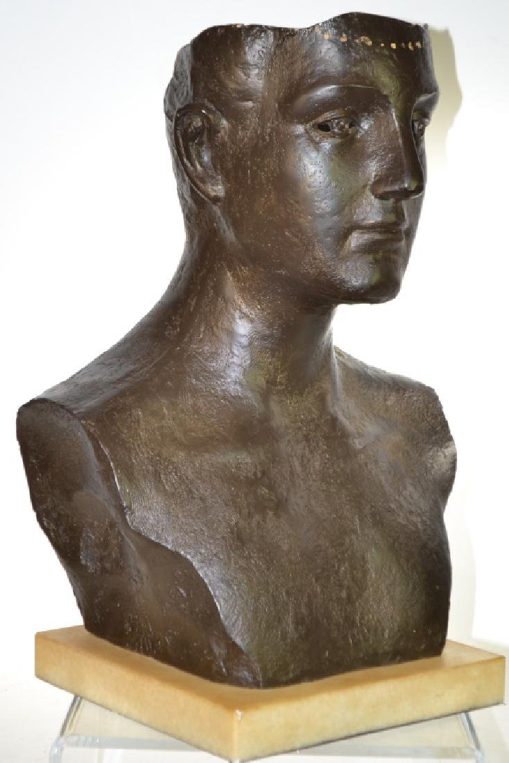Large Bronze Bust of a Man