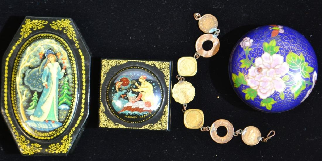 Signed Russian Lacquer Boxes