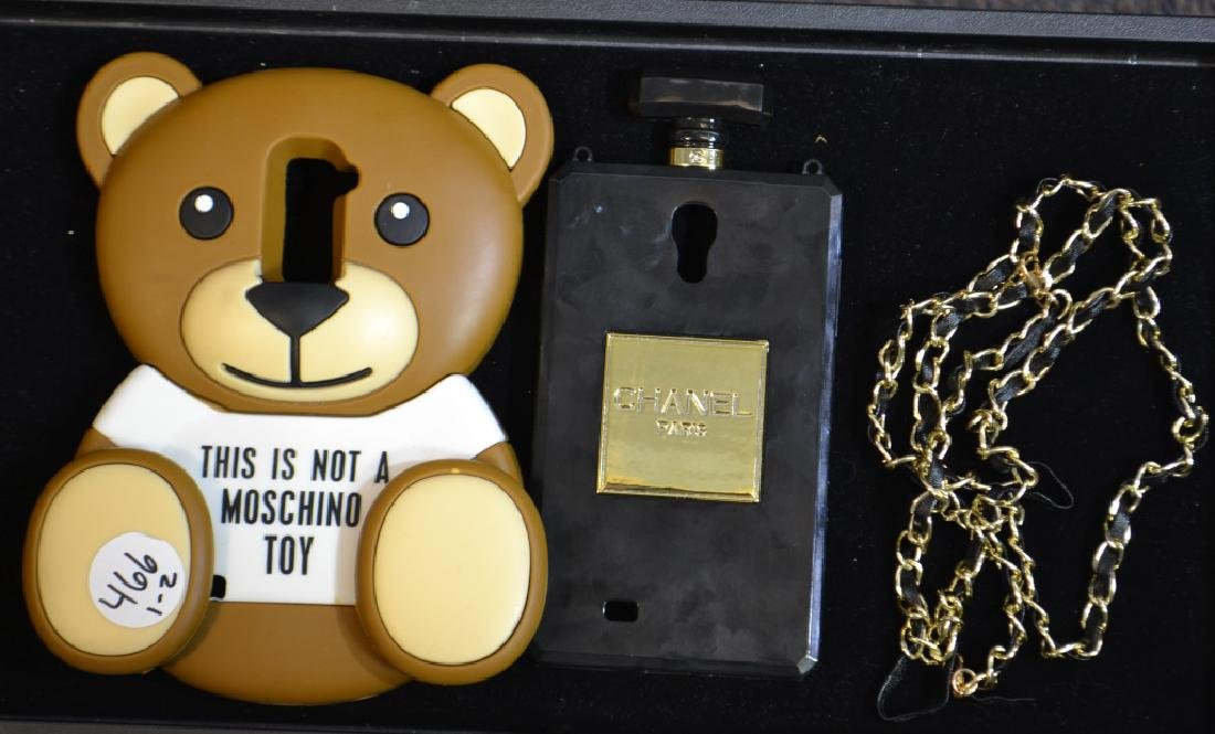 Chanel and Moschino Cell Phone Covers