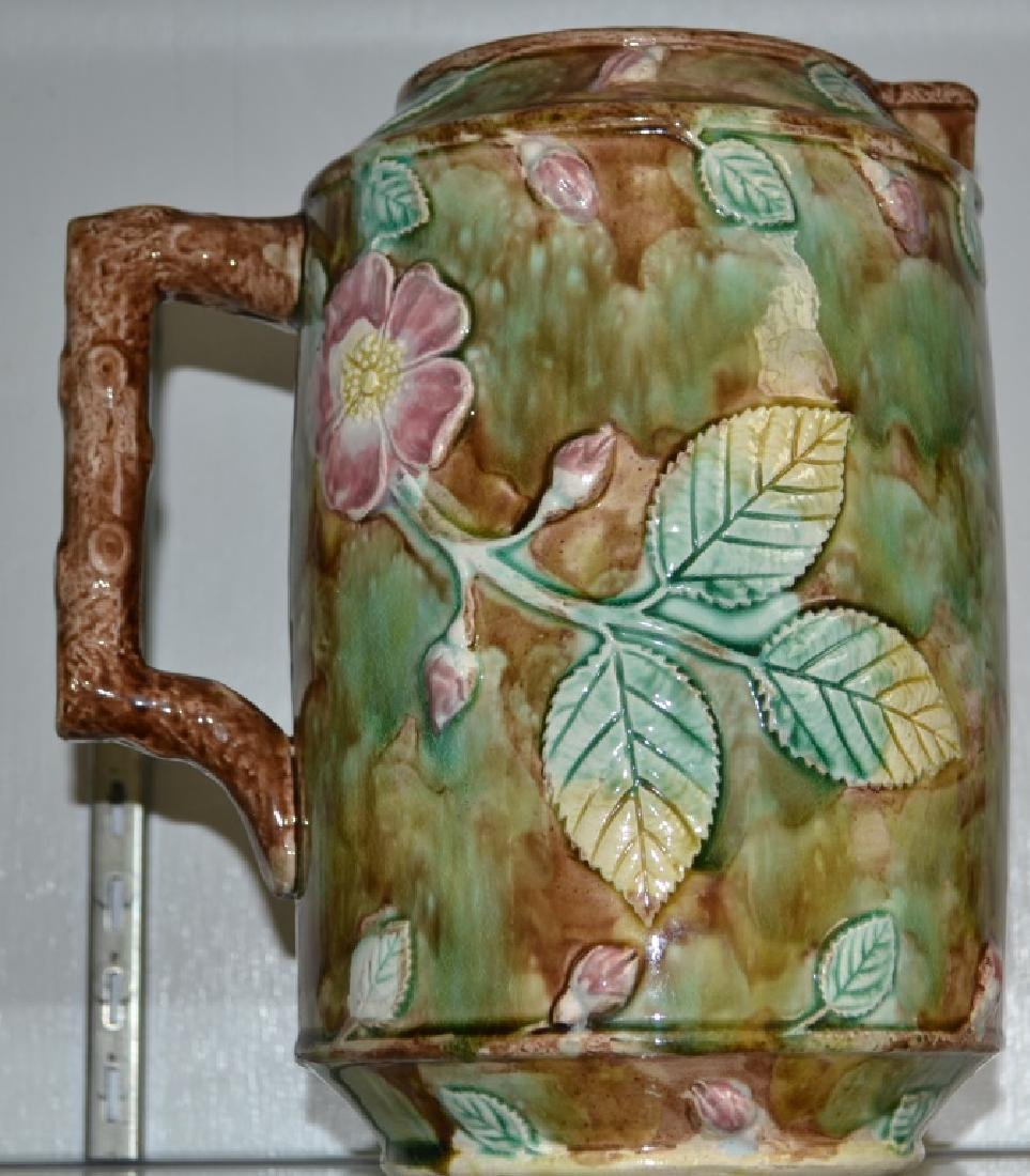 Large Majolica Water Pitcher