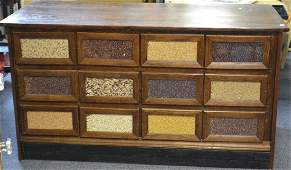 19th Century General Store Seed Cabinet