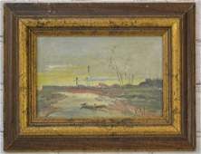 Oil on Canvas Attributed to  Isaac Levitan