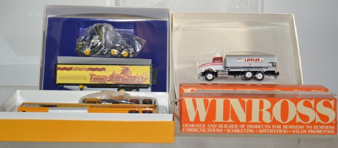Six Winross Trucks