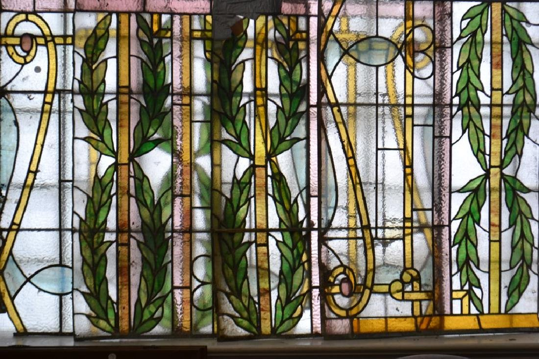 Set of Four 19th C. Stain Glass Panels - 2
