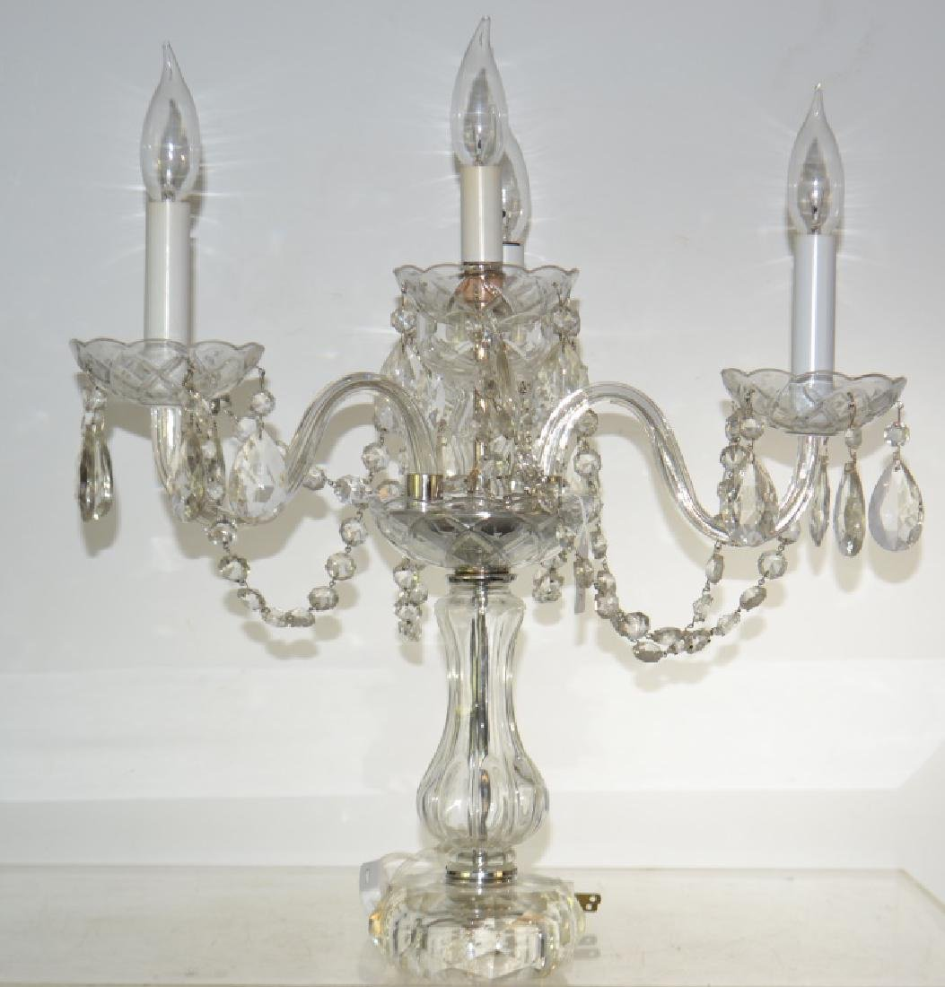 Table Lamp with Hanging Crystals
