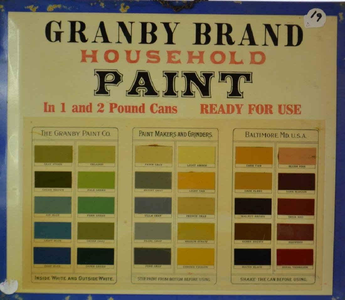 """Grandby Brand"" Paint Advertising Sign"