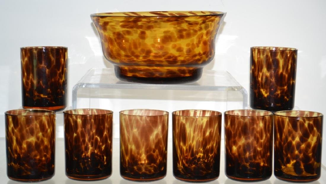 Grouping of Leopard Glass