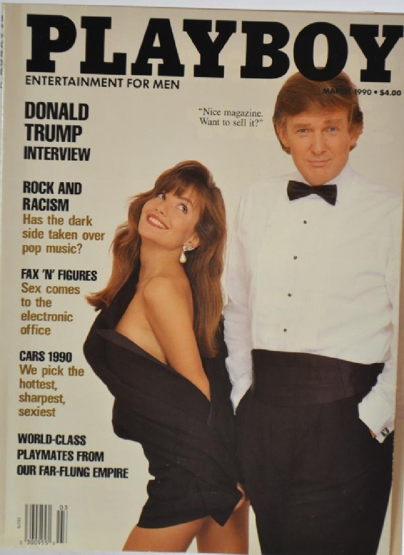 1990 Playboy Magazine with a Donald Trump Cover