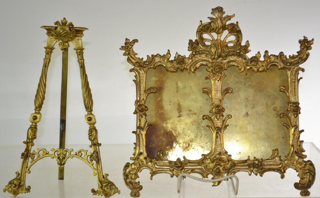 Brass Frame and Easel