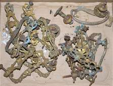 Grouping of Brass Victorian Hardware