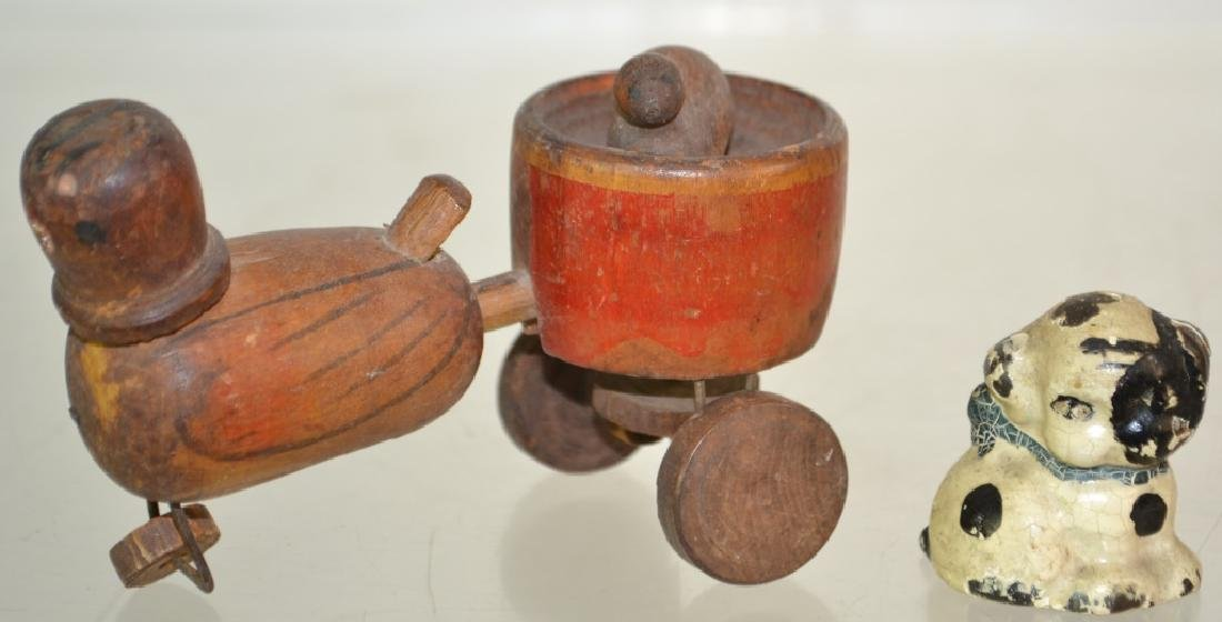 19th Century Wooden Mechanical Toy and More