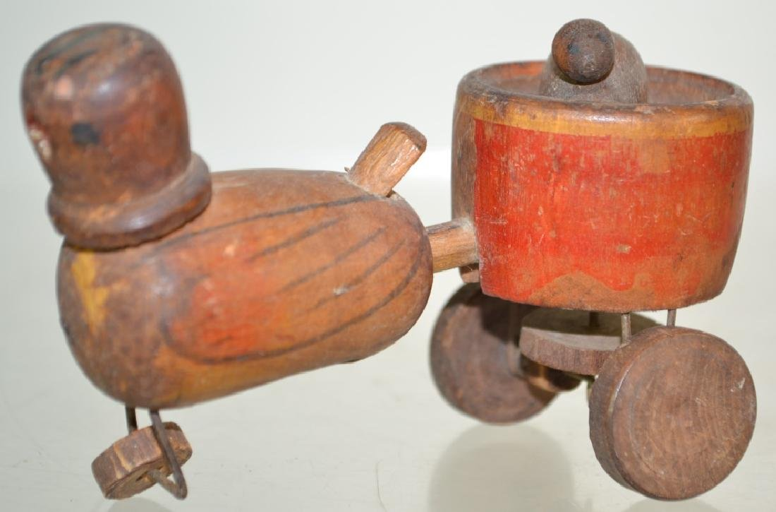 19th Century Wooden Mechanical Toy and More - 3