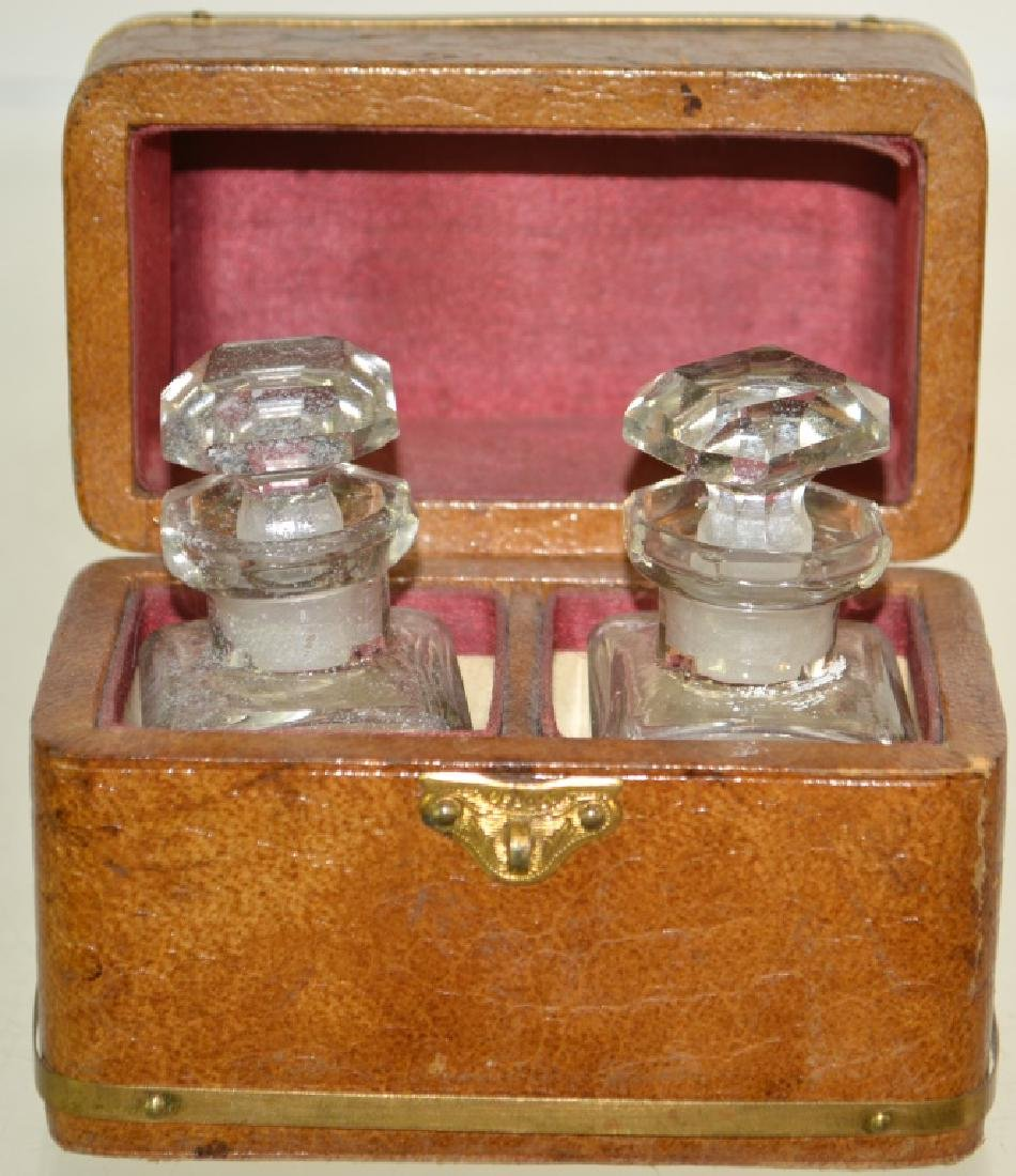 Leather Inkwell Box