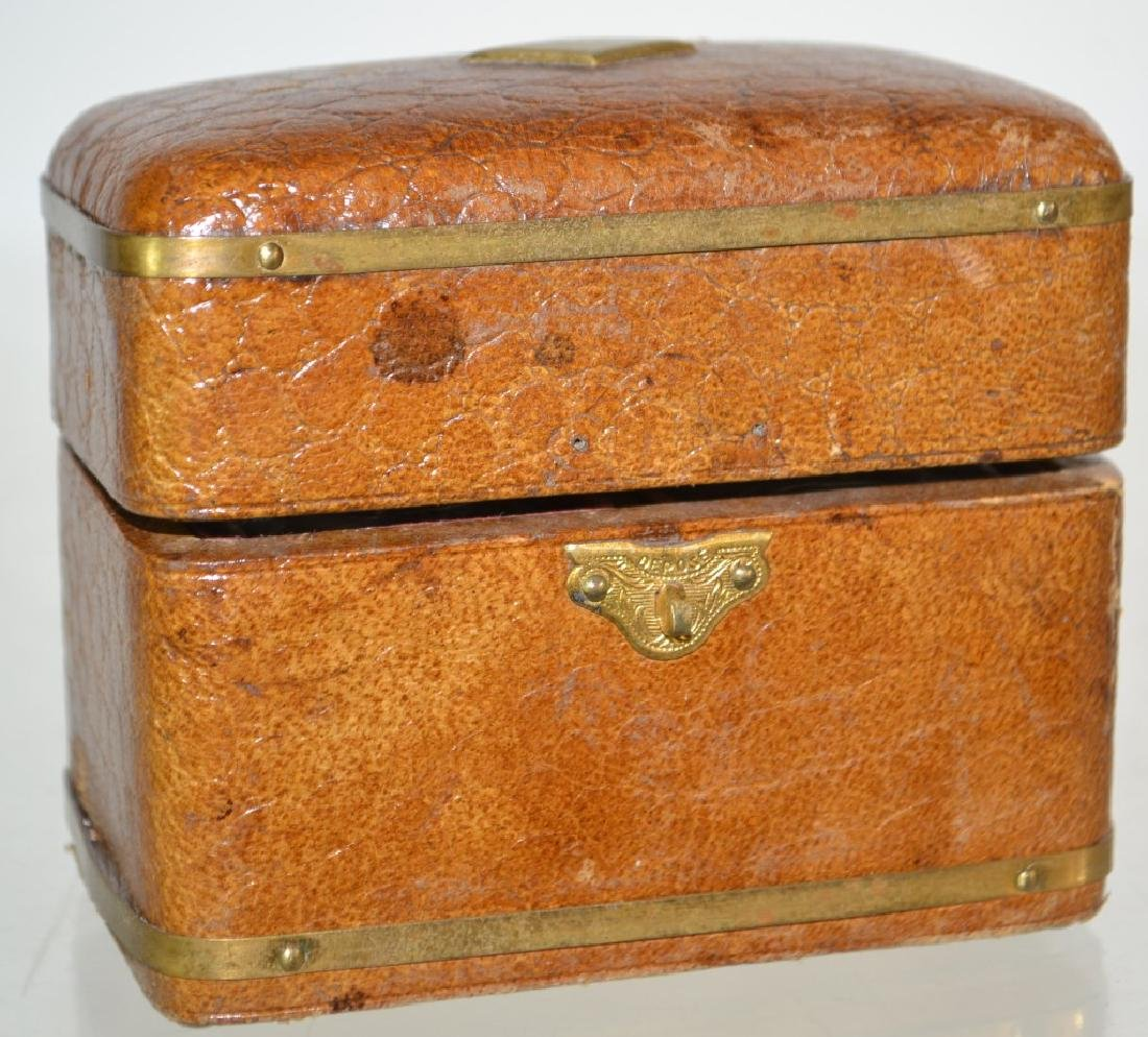 Leather Inkwell Box - 2