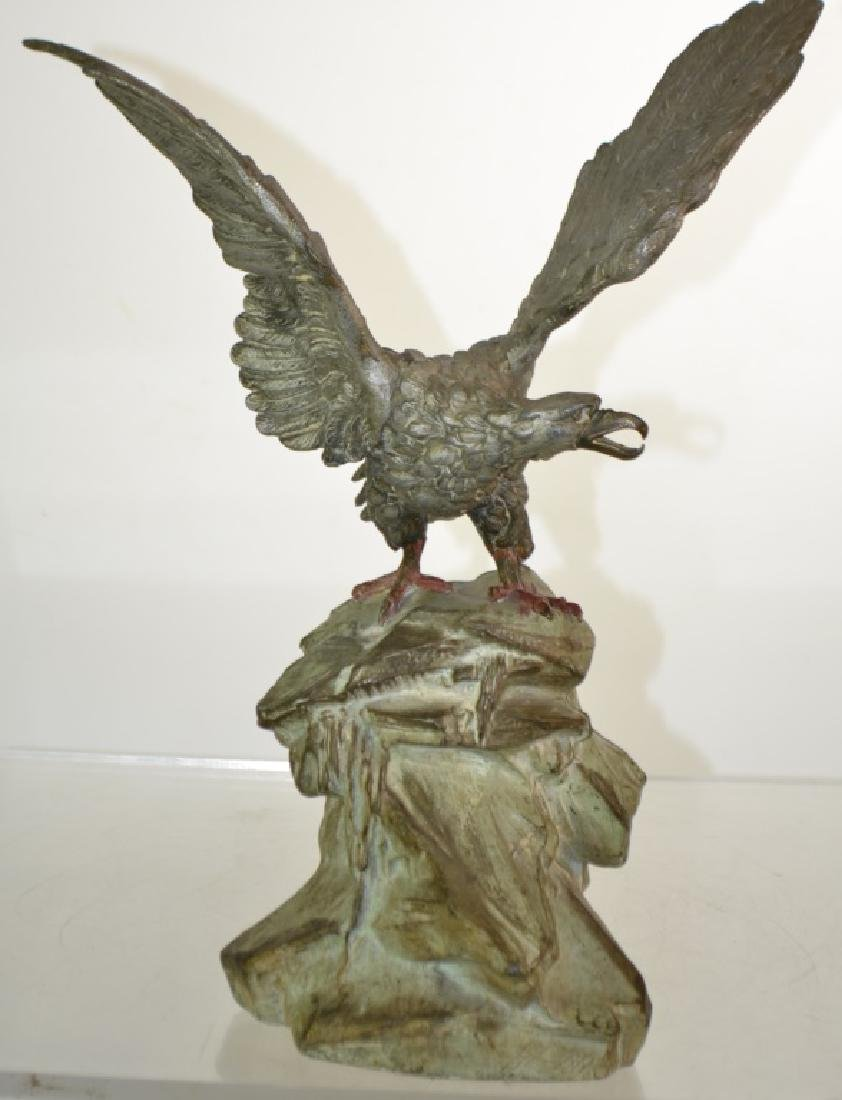 Metal Eagle Statue - 2