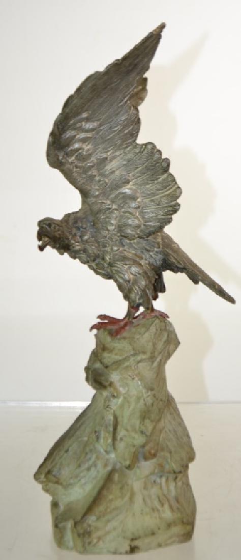 Metal Eagle Statue - 3