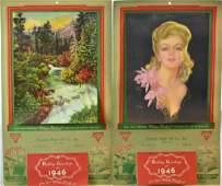 Two Vintage Advertising Calendars
