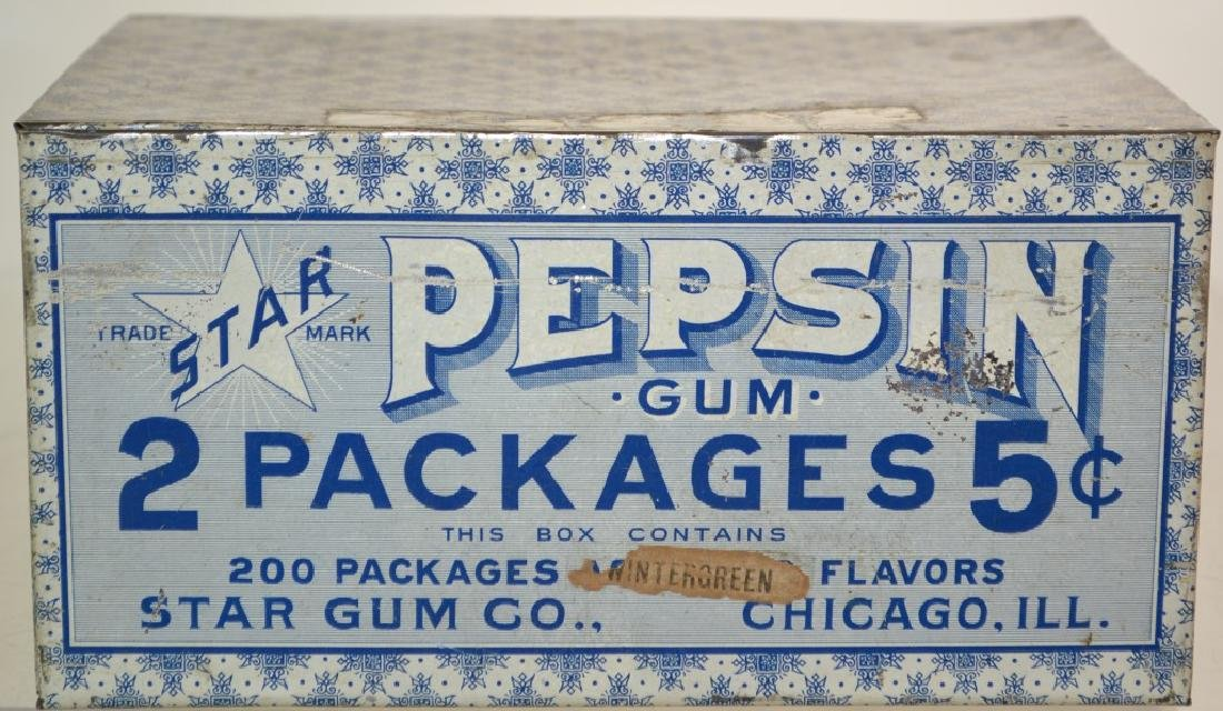 Pepsin Tin Gum Display