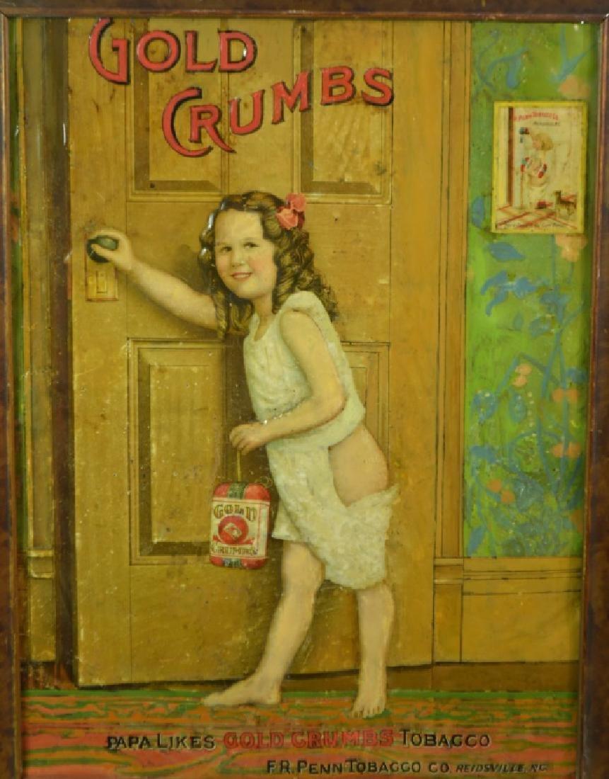 Gold Crumbs Tin Tobacco Sign