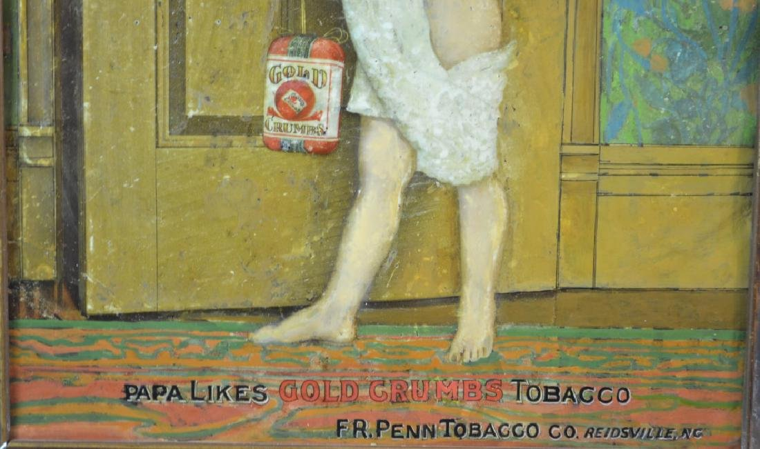 Gold Crumbs Tin Tobacco Sign - 2