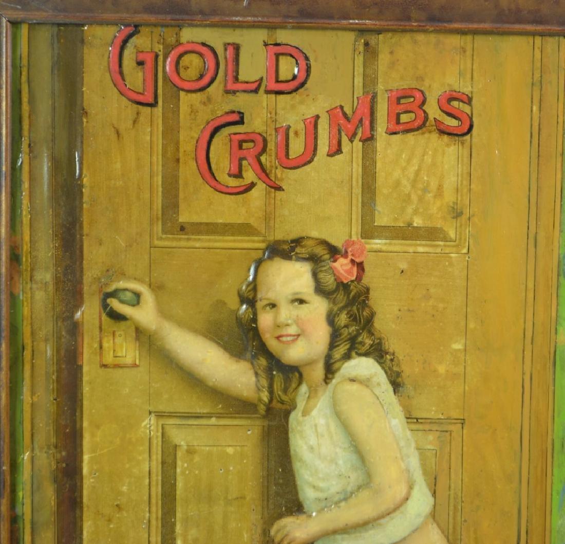 Gold Crumbs Tin Tobacco Sign - 3