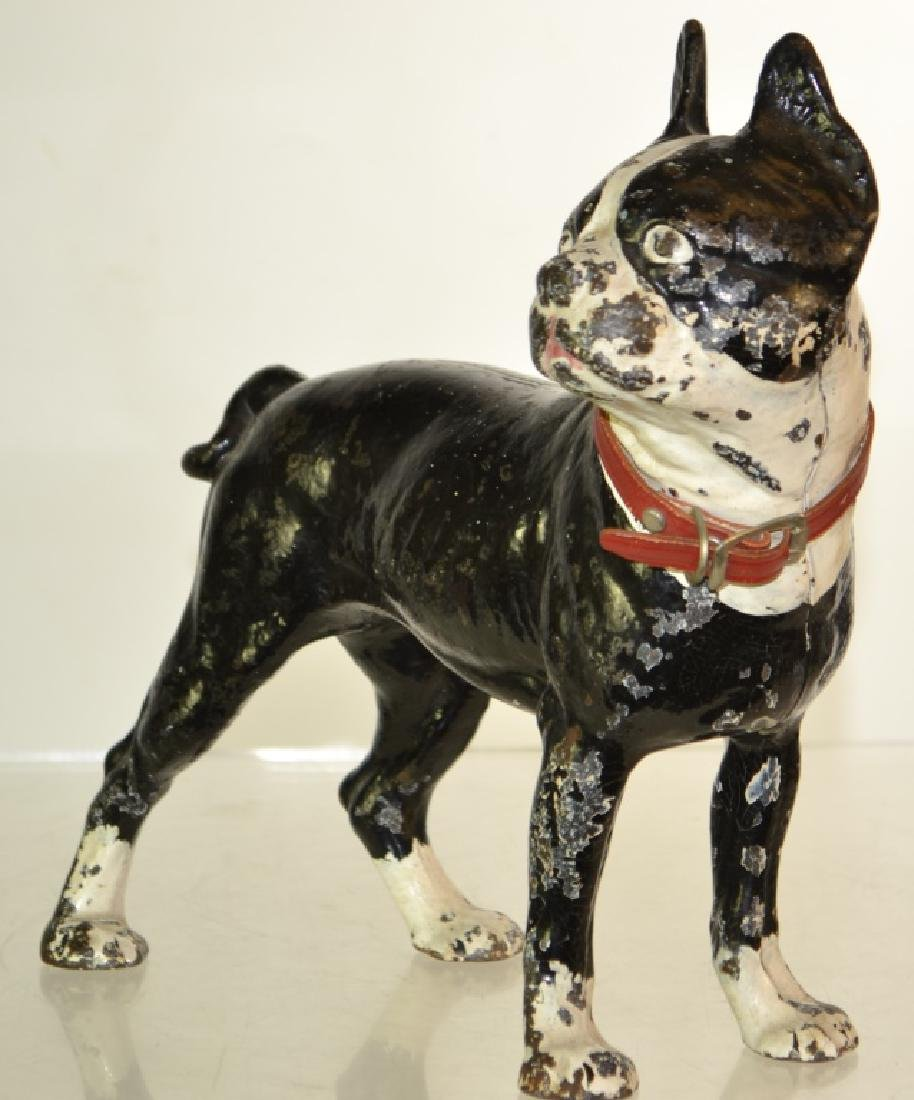 Vintage Cast Iron Bull Dog Door Stop - 2