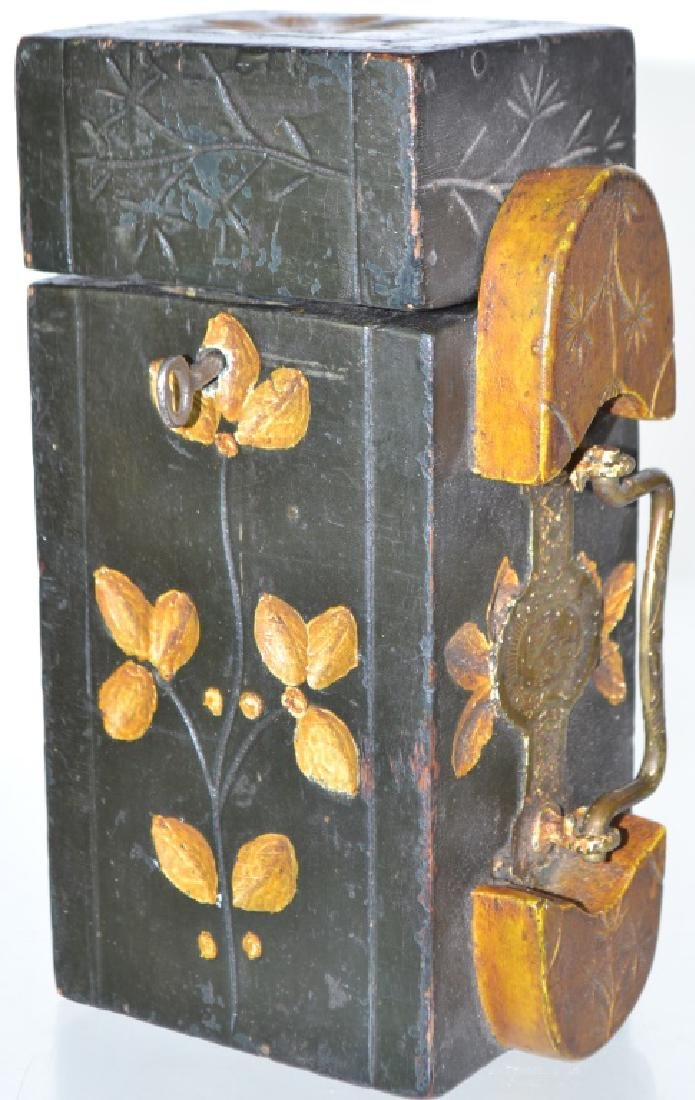 19th Century Decorative Shoe Shine Box