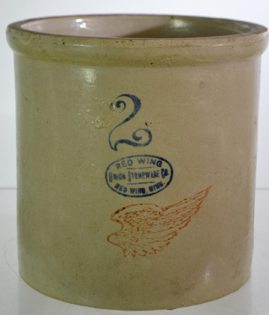 Red Wing Decorated Stoneware Crock