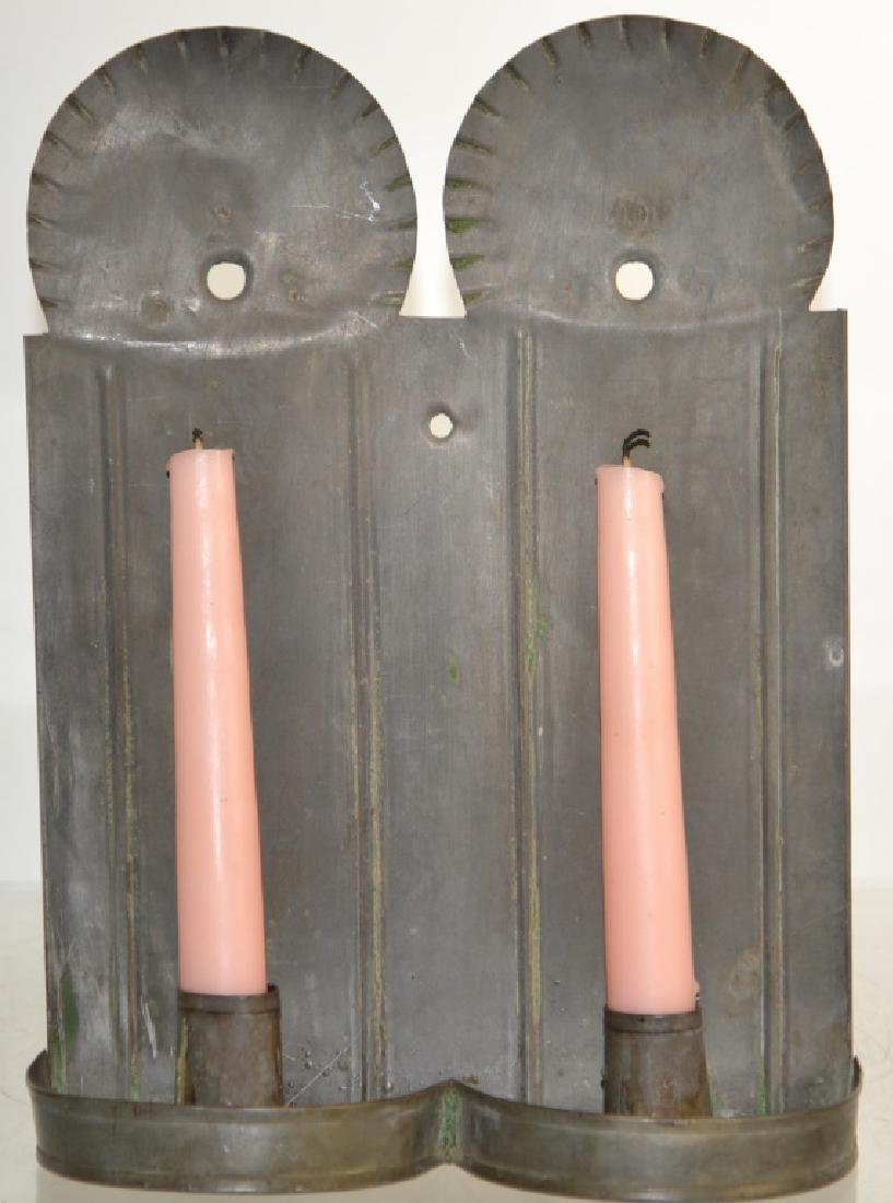 Tin Double Candle Holder
