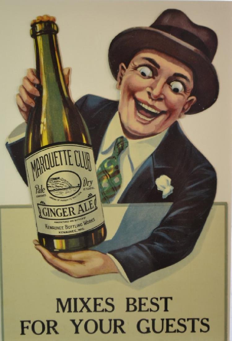 Marquette Club Ginger Ale Advertising