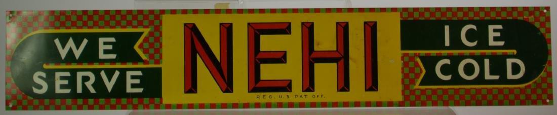 Nehi Painted Sheet Metal Advertising Sign