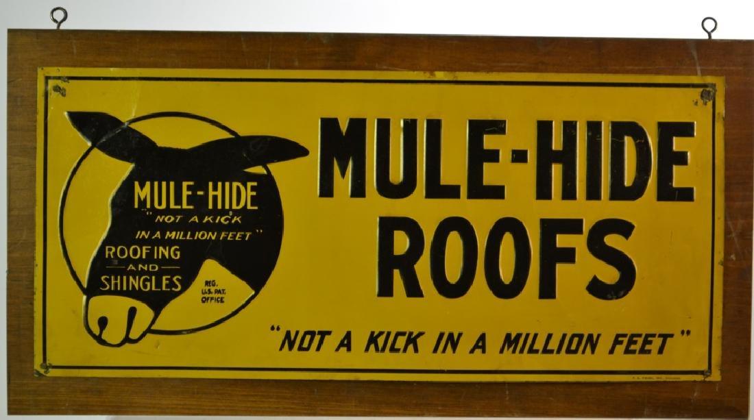 Mule-Hide Roofs Painted Metal Sign