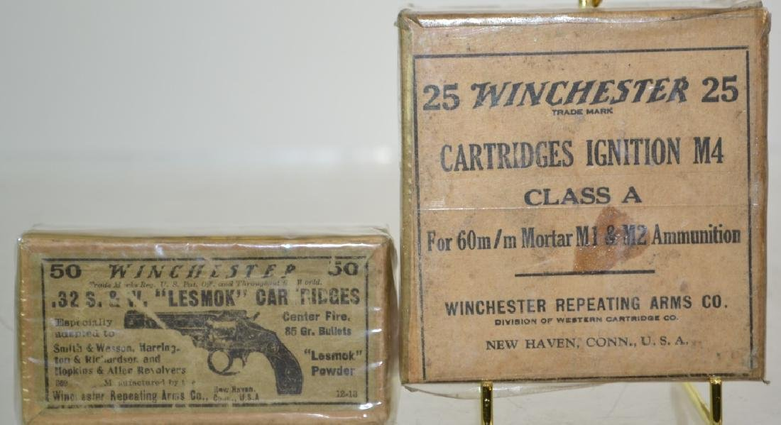 Two Winchester Ammunition Advertising Boxes