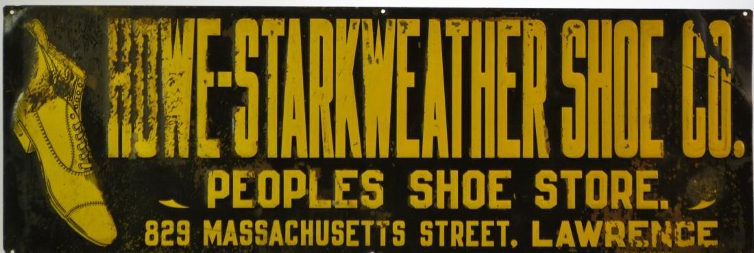 19th Century Howe-Starkweather Shoe Co, Tin Sign