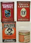 Four Piece Tobacco & Coffee Tin Group