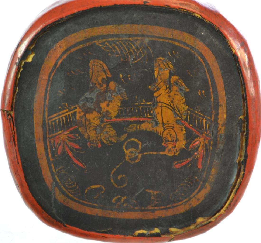 19th Century Japanese Leather Headrest - 3
