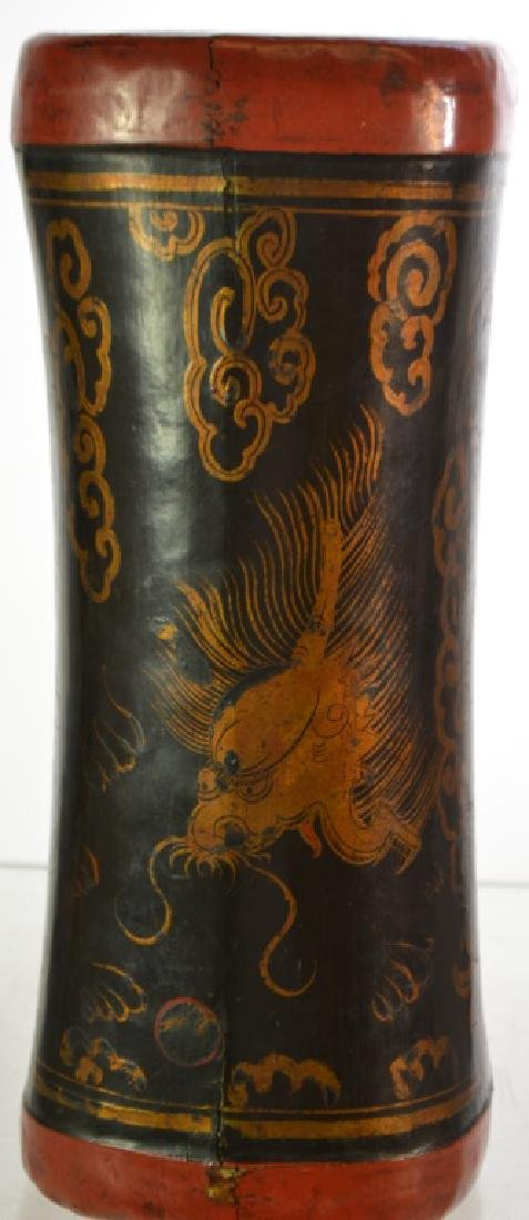 19th Century Japanese Leather Headrest - 4