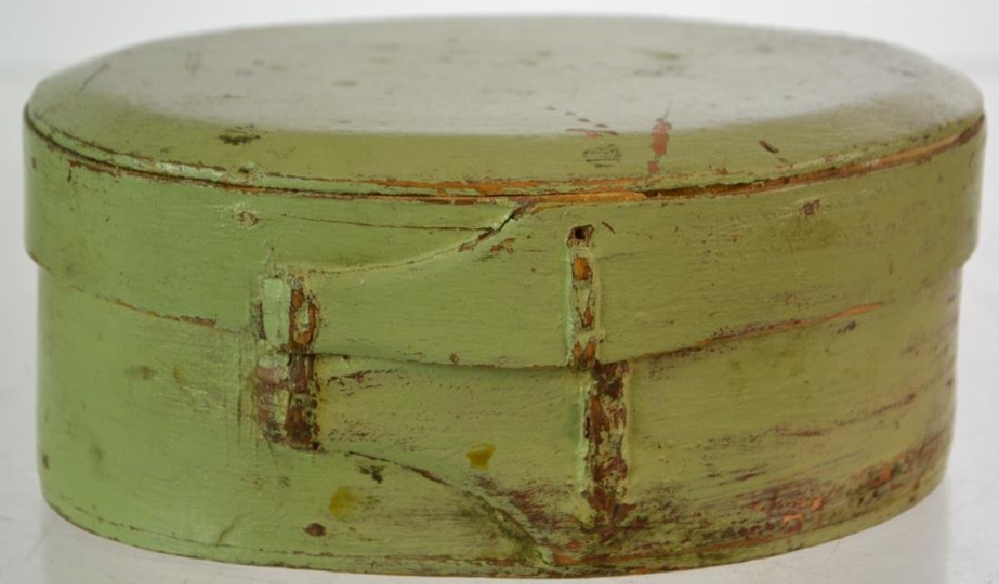 Shaker Green Painted Pantry Box 19th C