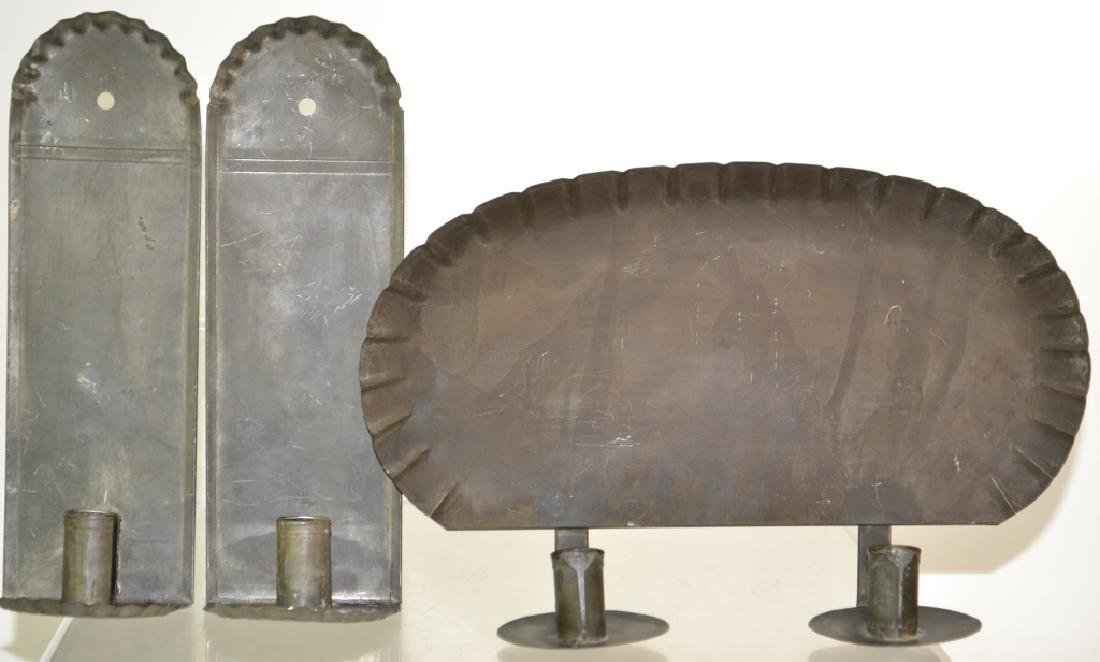 Pressed Tin Sconce Grouping